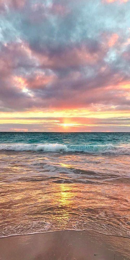 Go Big Red Sunset Wallpaper Ocean Wallpaper Beach Wallpaper Desktop wallpaper beach paradise