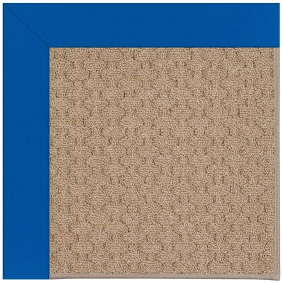Zoe Grassy Mountain Machine Tufted Reef Blue/Brown Area Rug
