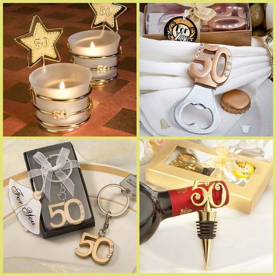 50th Gold Party Favors For 50th Class Reunion, 50th