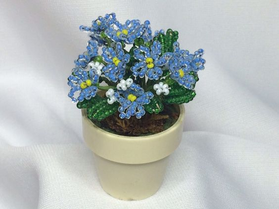 Dollhouse Miniature Beaded Plant by MiniEstates on Etsy