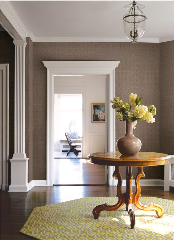 Modern classic interior, Interior wallpaper and Classic interior on ...