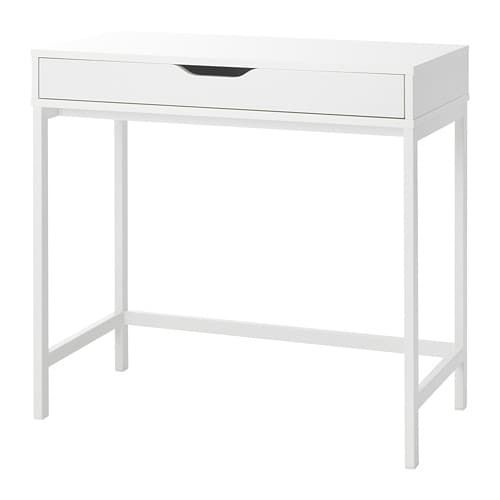 Alex Desk White 79x40 Cm Ikea In 2020 Alex Desk Ikea White Desks
