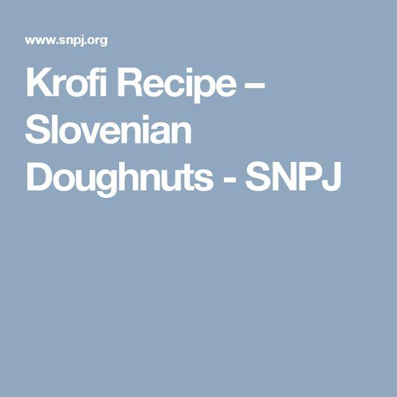 Krofi Recipe – Slovenian Doughnuts - SNPJ