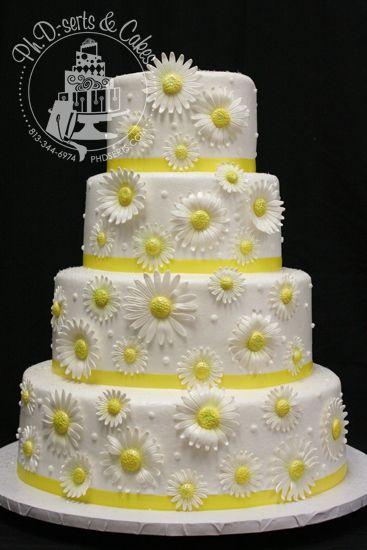 la crème de beurre marguerites gâteaux de mariage marguerite petits ...