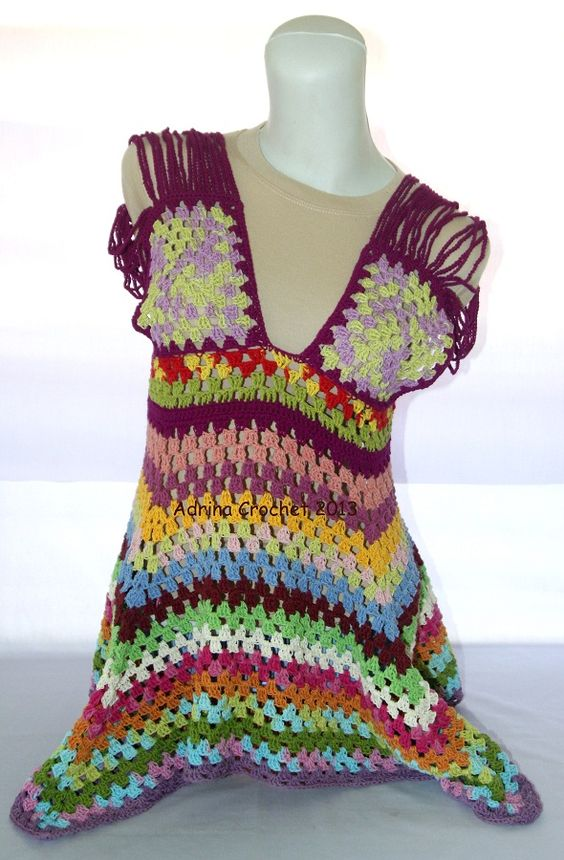 Colorful Granny Tunic. In stock. Receive order.: