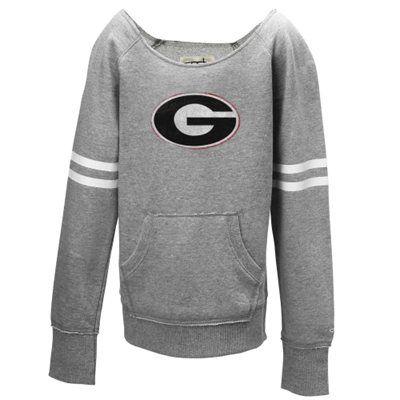 Georgia Bulldogs Youth Girls Brooke Fleece Sweatshirt – Gray