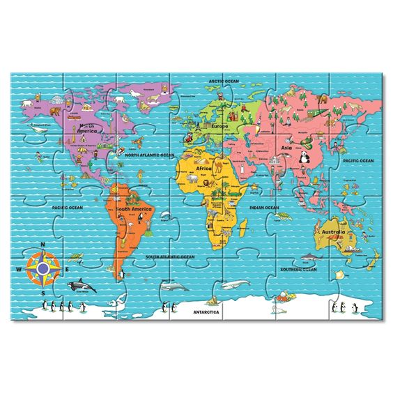 Giant World Map Floor Puzzle Toys R Us Children - Toys r us map