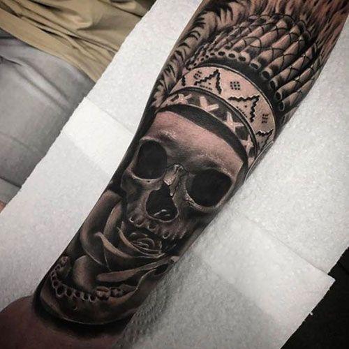125 Best Skull Tattoos For Men Cool Designs Ideas 2020 Guide Skull Tattoos Skull Tattoo Sugar Skull Tattoos