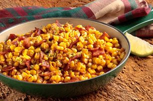Rustic Skillet Corn with Bacon recipe