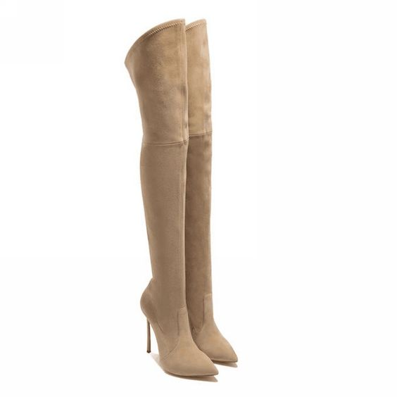 Up to Size 11 - thigh high boots over the knee boots fall winter ...