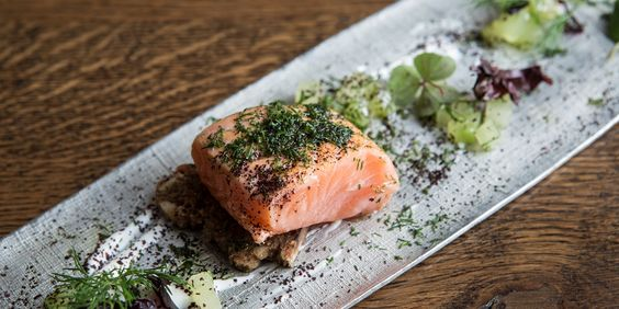 Marinated smoked salmon with dill and cucumber  A beautiful smoked salmon recipe, this gravlax with pickled cucumber by Agnar Sverrisson makes a vibrant and sophisticated fish starter.