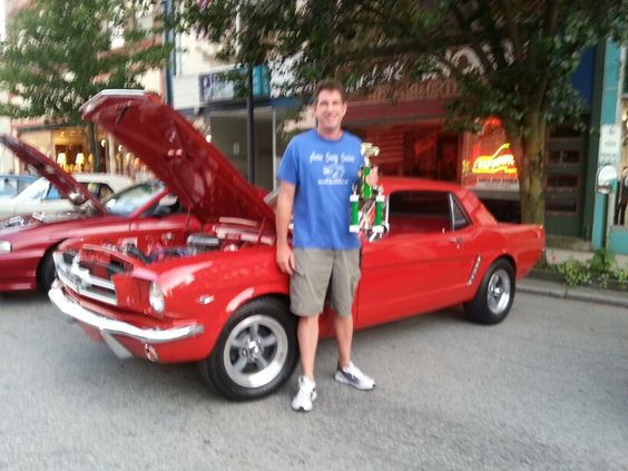 65 mustang at cruiseinport show in port Jarvis ny