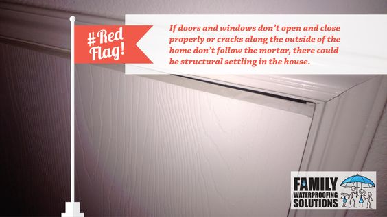 #RedFlag: Doors and windows that have trouble opening and closing could be due to structural issues.