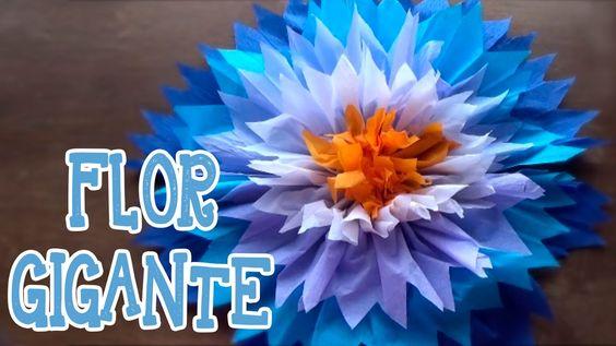 Flor gigante papel! Decora fiestas y eventos.