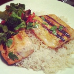 Grilled Pan Fried Honey Salmon