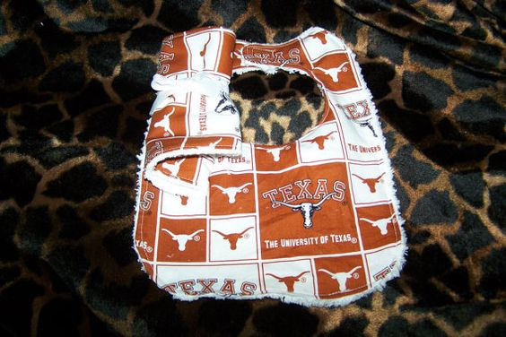 Texans Longhorns Football Team  Baby Girl Boy by sososophie, $10.00