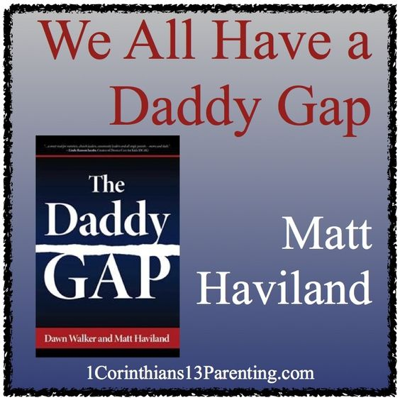 With the recent release of The Daddy Gap, my coauthor Dawn Walker and I are already praying that this book doesn't just move people to action when it comes to single parents and fatherless children...