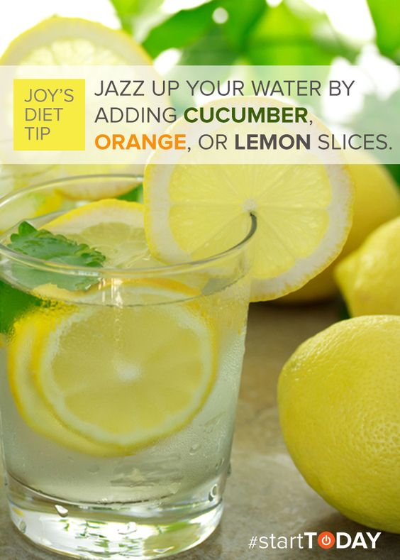 Daily clean eating tip: Jazz up your water by adding cucumber, orange ...