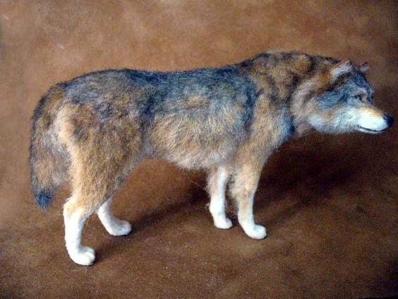 Dollhouse Miniature Wolf *Handsculpted*