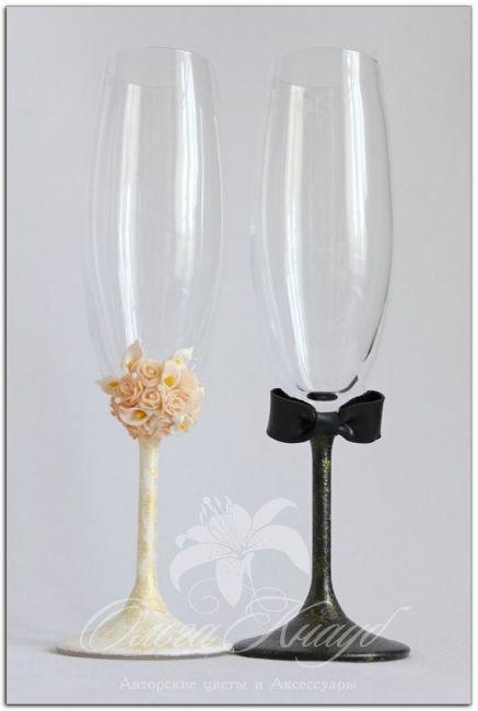 Copas decoradas para casamiento boda san pinterest for Copas de champagne