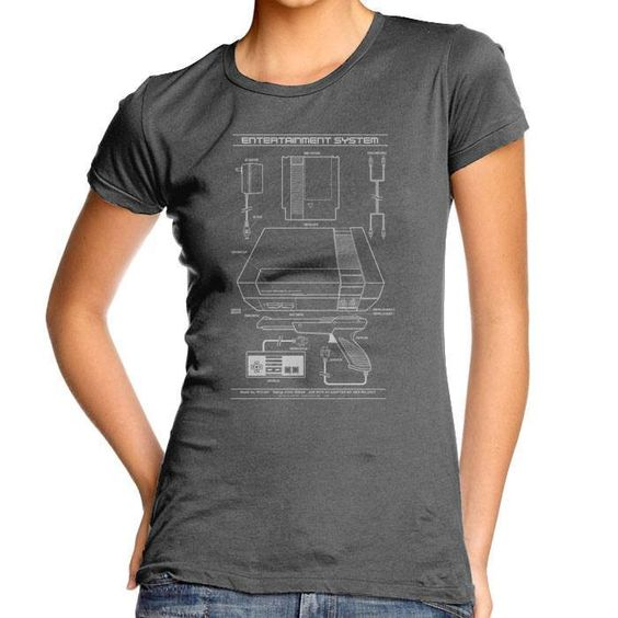 Entertainment System - Women's Fitted T-Shirt