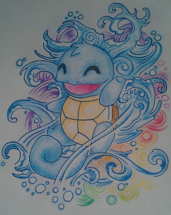Squirtle Tattoo Design | Tattoo Sketches/ Drawings ...