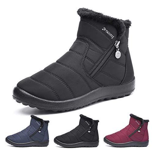 gracosy Bottines de Neige Femmes Filles Chaussures Ville Hiver Fourrure Bottes de Pluie Apr/ès Ski Imperm/éable Boots Fourr/ée Chaude pour Randonn/ée Pieds Larges