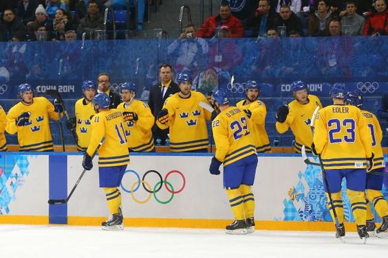 "Team Sweden defeated Slovenia in men's hockey quarterfinal matchup, ending Slovenia's ""Cinderellla"" run, and advancing to the semifinal to await the winner of Russia and Finland."