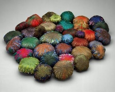 Fiber and Textile, Sheila Hicks, Kneeling Stones, silk, wool, linen and other fibers