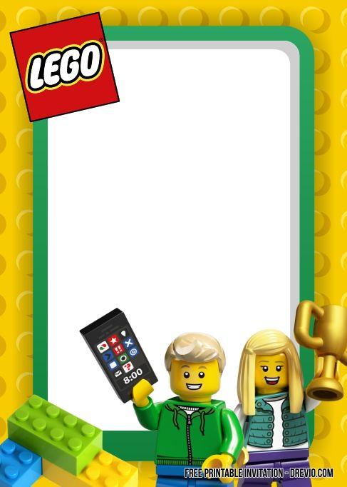 Free Printable Lego Birthday Invitation Templates Lego Birthday Lego Birthday Party Printable Birthday Invitations