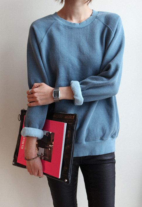 Casual back to school look. The collage sweater is such a great look in any occasion, but especially in school!