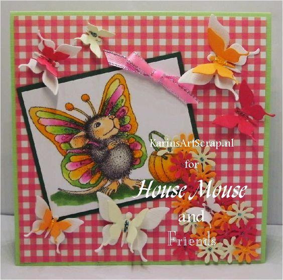 KarinsArtScrap: Reminder House mouse # Butterflies