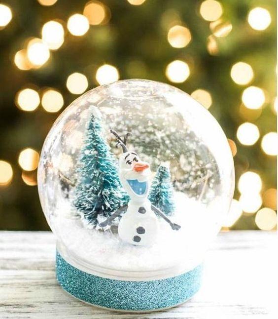 Como fazer globo de neve de natal - Passo 6