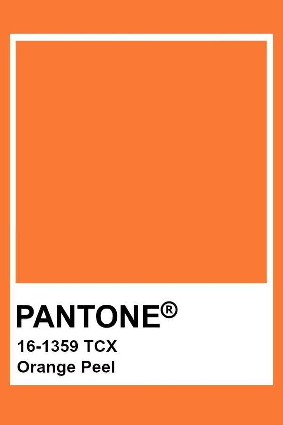 Pantone Orange Peel  - Pantone - #orange #Pantone #Peel