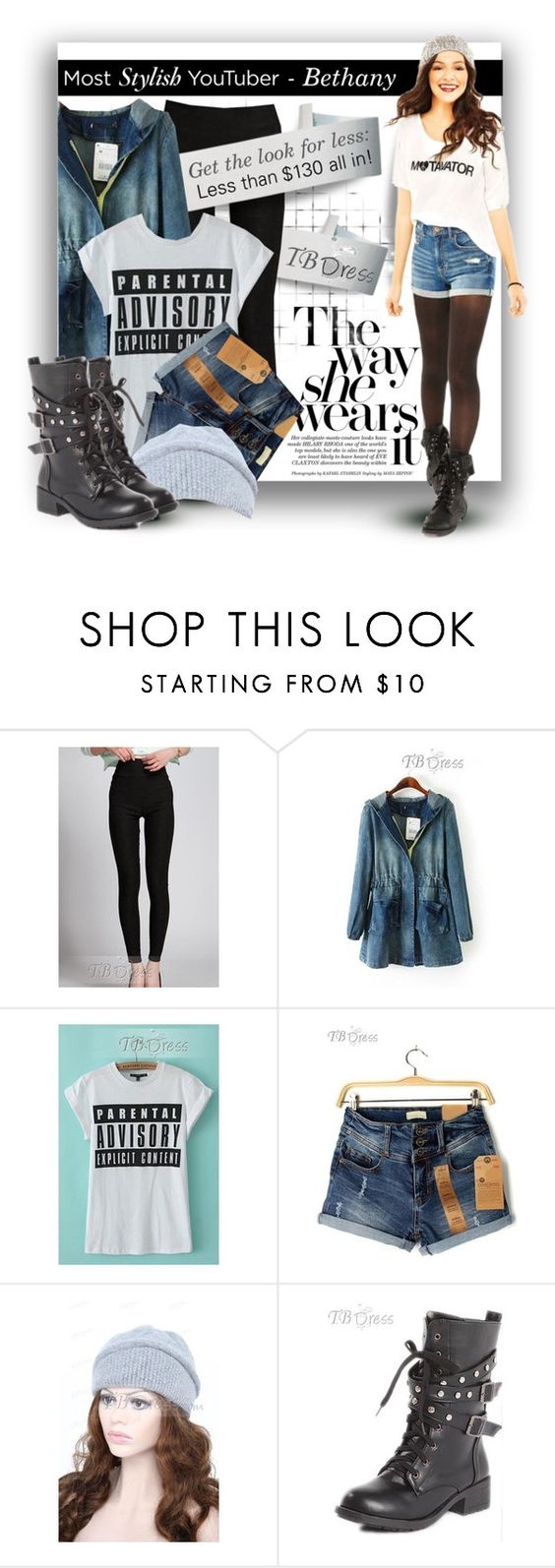 """""""Bethany - get the look with TB Dress"""" by crapiblogabout ❤ liked on Polyvore featuring Aéropostale, GetTheLook, denim, bethanymota, tbdress and PolyvoreMostStylish"""