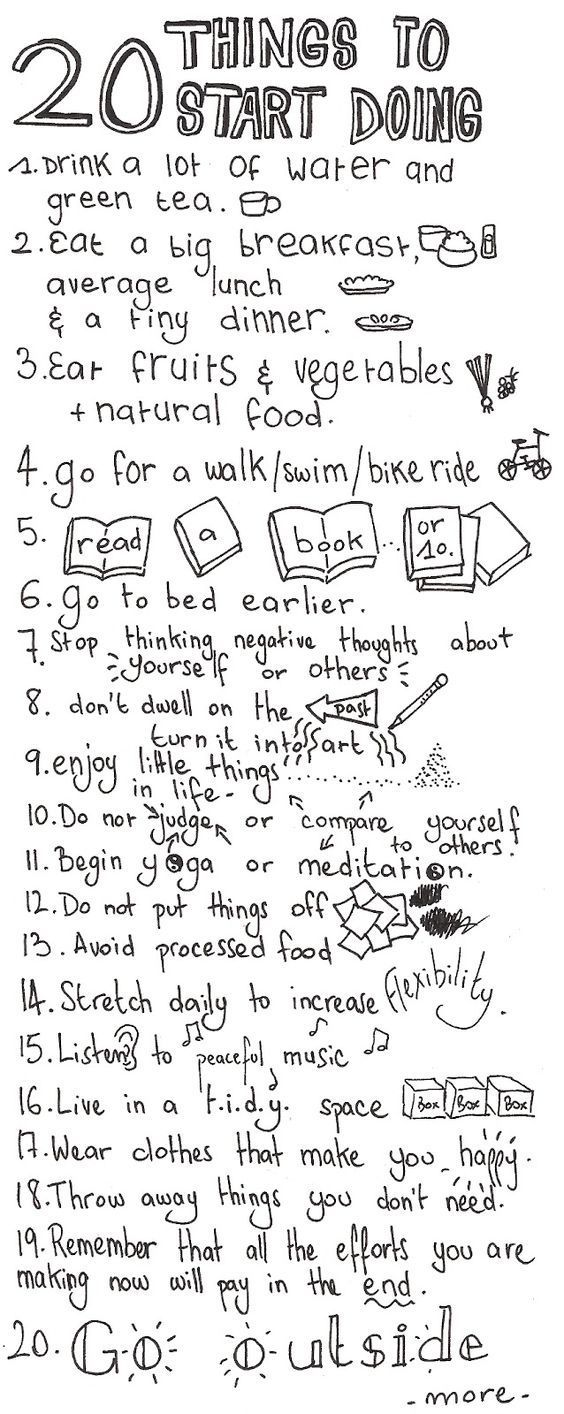 Self care & developing positive coping skills - 20 ideas to get you started: