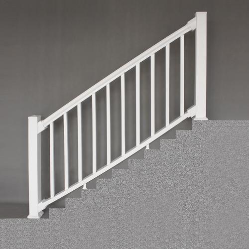 Designer S Image 6 X 3 Premium Classic Vinyl Stair Railing At Menards Designer S Image Reg 6 X 3 White Premium Classic Viny Stairs Stair Railing Design