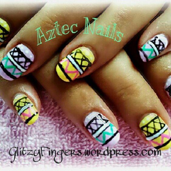 #GlitzyFingers #Aztec #tribal #nails #nailartjunkie #nailartaddicts #nailswag #nailartdesignz #nailartohlala #nailartoohlala #nailpics #nailartchallenge #nailcompetitions #nailmaxdesigns #angelpro #angelprogelly