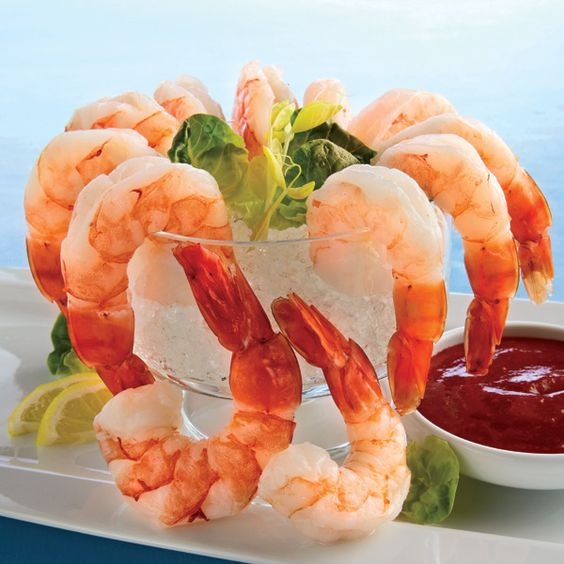 TOP SELLER: COLOSSAL Cooked Shrimp with Tangy Cocktail Sauce