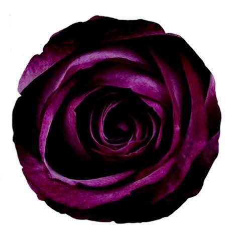 "Deep Purple Rose 18"" Premium Round Cushion"