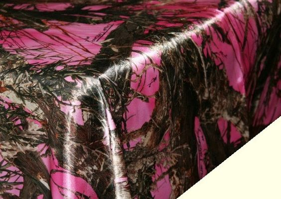 Pink camouflage table cloth pink camo tablecloth camo for Pink camo decorations