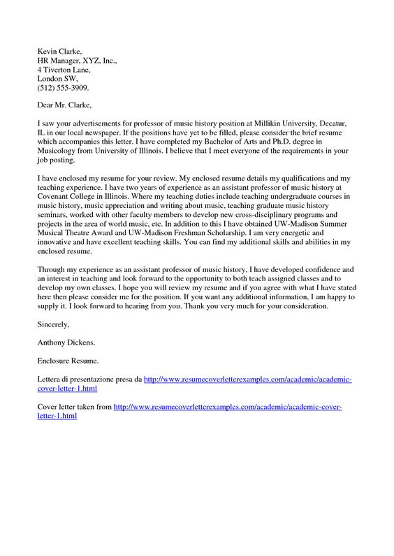 writing cover letter for a postdoctoral position - Academic Cover Letter