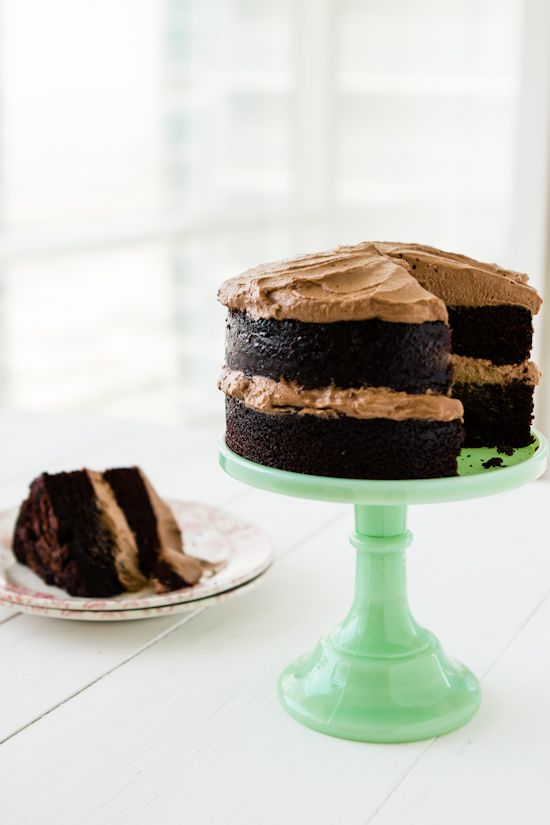 Sips and Spoonfuls: One Bowl Chocolate Cake with Whipped Chocolate Frosting