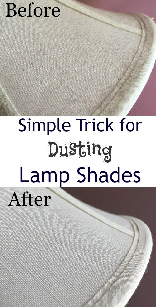 Cleaning Tip Tuesday: Easy Way to Dust Lamp Shades | Easy tricks ...