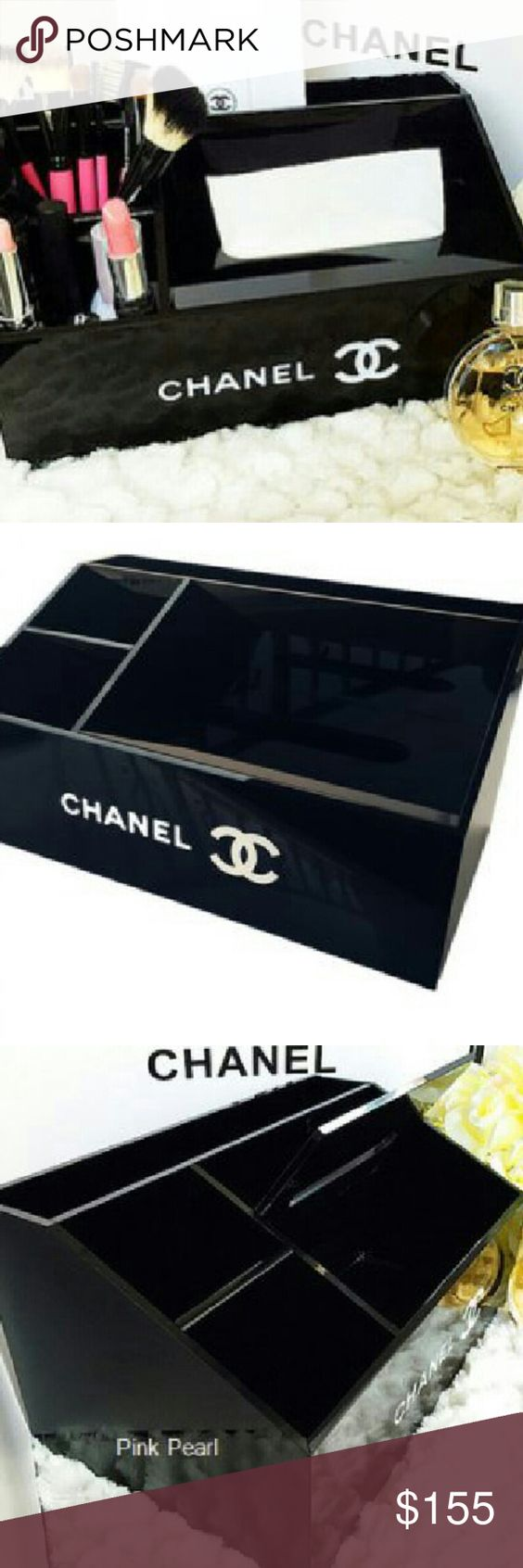 Chanel Multi Function Box Chanel multi-function box. New rare limited edition. Glossy black acrylic. 28cm x 18cm x 14cm.  VIP Gift item given to members from Chanel flagship stores. Not sold in stores. Items are not included (perfume, make-up etc.) Brand new in box. CHANEL Makeup Brushes & Tools