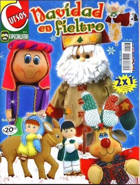 Mu ecos navide os en fieltro revistas de navidad - Munecos de navidad ...