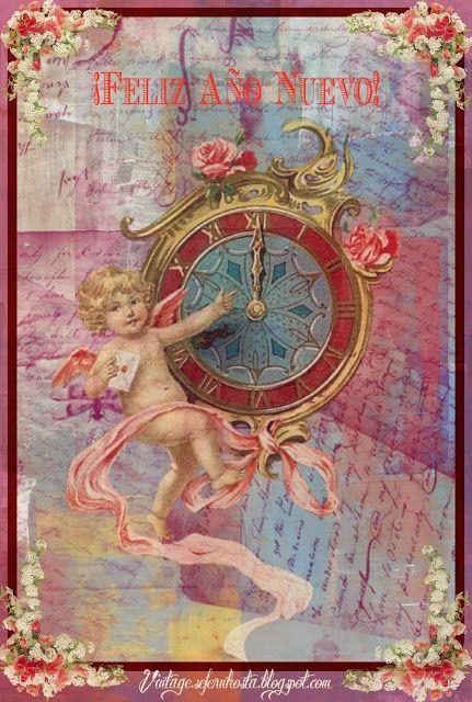 VINTAGE, EL GLAMOUR DE ANTAÑO: MIS TARJETAS DE AÑO NUEVO - Collages