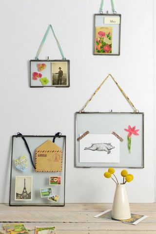 double sided picture frames | Picture Frame | glass photo frame | Decorator's Notebook barefootstyling.com