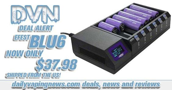 Efest Blu6 – $37.98 – USA | The best 6 bay charger out there
