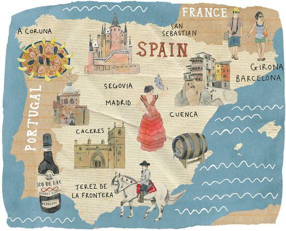 Kate Evans - Map of Spain